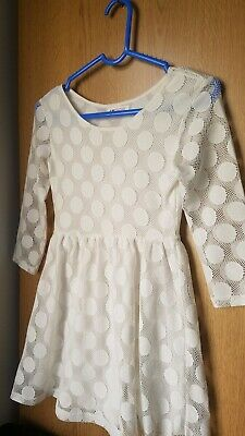 White Polka Dot Dress For Kids • 4£