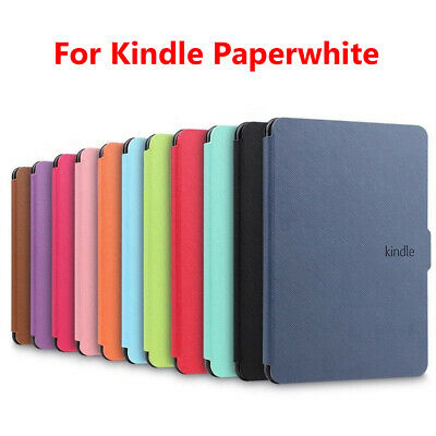 Shell Magnetic Cover Smart Case PU Leather For Amazon Kindle Paperwhite 1/2/3 • 5.58£