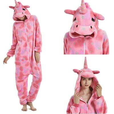 AU37.25 • Buy New Unicorn Kigurumi 1Onesie Adult Women Animal Winter Pajamas 2020 Hot