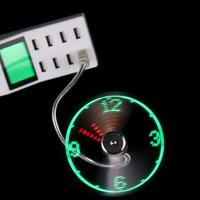 AU12.72 • Buy USB Mini Flexible Time Clock Fan With LED Light - Cool Gadget Adjustable