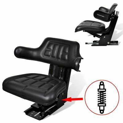 AU154.95 • Buy Tractor Seat With Suspension & Sliding Track Machinery Chair Waterproof Cover
