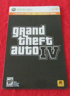 $ CDN19.94 • Buy 1 Month Xbox 360 Live Gold Trial From Grand Theft Auto IV New