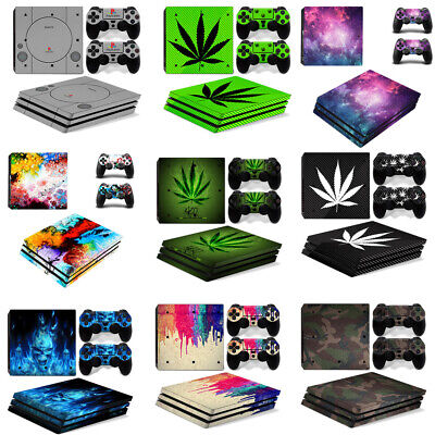 AU10.33 • Buy HOT Vinyl Decal Cover Skin Sticker For Sony PS4 Pro Console 2 Controllers Set