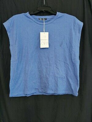 $8.97 • Buy Zara Tshirt Short Sleeve Shirt Size Large NWT - Blue (5008)