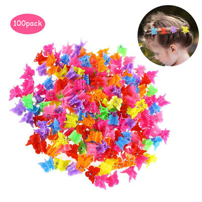 $3.39 • Buy 100Pcs Butterfly Hair Clips Claw Barrettes Mini Jaw Clip Hairpin For Women Girls