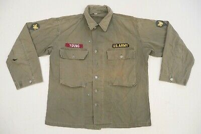 £145.45 • Buy US WW2 Army HBT Jacket 13 Star Button - P43 - 1943  - WWII With Patches