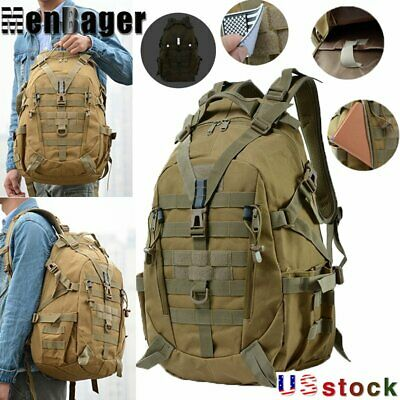 $25.99 • Buy 40L Camping Tactical Military Travel Backpack Climbing Hiking Outdoor Rucksack