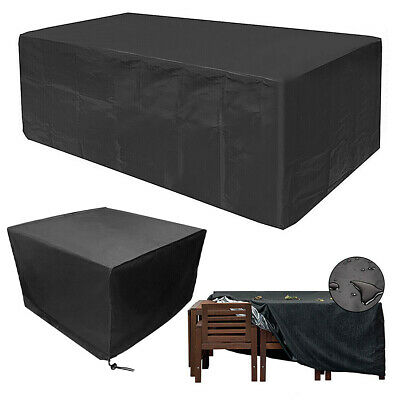 Heavy Duty Garden Patio Furniture Table Cover For Rattan Table Cube Set Outdoor* • 16.14£