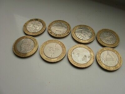 2 Pound Coin Collecting Job Lot Of 8  All Different  • 24.99£