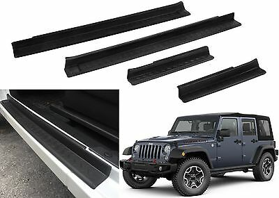 $30.11 • Buy 4pcs For 2007-2017 Jeep Wrangler Free Shipping Door Entry Sill Scuff Guards