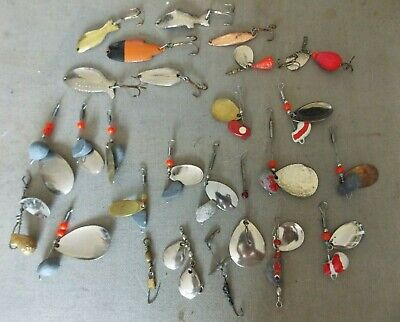 $ CDN33.93 • Buy Lot Of 24 Vintage Fishing Lures And Spinners