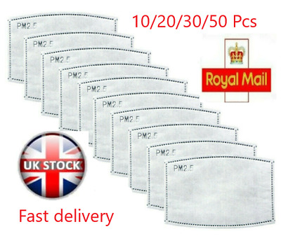 PM2.5 FILTER For Washable Reusable Cotton Face Mask ROYAL MAIL FREE UK DELIVERY • 3.49£