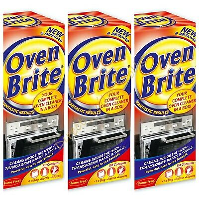 £11.95 • Buy X3 Oven Brite Complete Cleaning Set Oven,grill&rack Degreaser Cleaner/gloves/bag