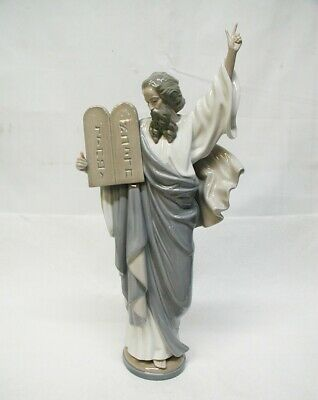 $49.99 • Buy BEAUTIFUL LARGE 16  TALL LLADRO FIGURINE  Moses  & 10 Commandments Ref. #5170