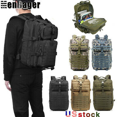 $29.90 • Buy 50L Outdoor Military Molle Tactical Backpack Rucksack Camping Travel Hiking Bag