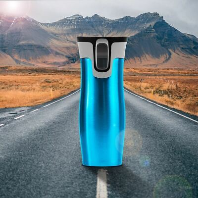 AU37.95 • Buy Thermal Cup Travel Mug Flask Water Bottle Autoseal Thermos Stainless Steel Blue