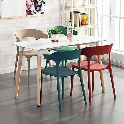 AU139.81 • Buy 4-6 Seater Dining Table Replica DSW Eiffel Tables Kitchen Wooden Square White