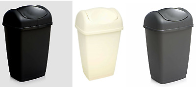 £10.99 • Buy Plastic 50L Swing Top Bin Waster Paper Rubbish Recycle Bins Home Office Kitchen