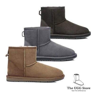 AU53.99 • Buy Classic Mini UGG Boots Australian Sheepskin Leather Unisex Water Resistant