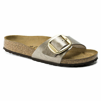 Birkenstock Madrid Big Buckle Womens Sandal (Graceful Taupe) Narrow Fit RRP £70 • 56£