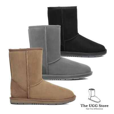 AU63.99 • Buy Classic Short 3/4 UGG Boots Australian Sheepskin /Leather Unisex Water Resistant