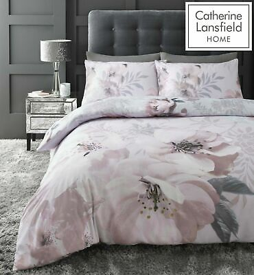 £21.99 • Buy Catherine Lansfield Dramatic Floral Easy Care Duvet Cover Bedding Set Blush