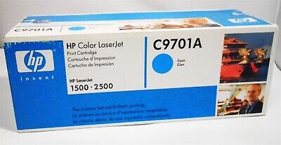 $24.97 • Buy Genuine HP C9701A Cyan Toner Cartridge For LaserJet 1500 & 2500 Printers
