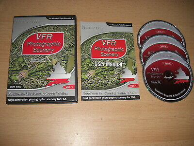 VFR PHOTOGRAPHIC SCENERY Generation X Southern England & Sth Wales Pc FSX Add-on • 10.99£
