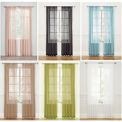 Preset Sizes FREE DELIVERY Chelsea Slub Net Curtain