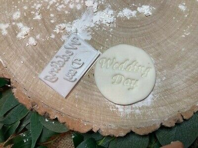 £3.79 • Buy Wedding Day Cookie Embossing Stamp / Fondant / Icing