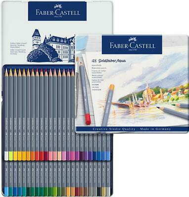 £34.99 • Buy Faber Castell Goldfaber Aqua Watercolour Pencils In Tin Set Of 48  - New