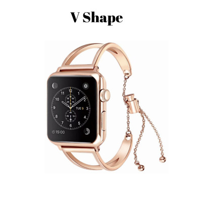 AU47.90 • Buy Apple Watch Band, Stainless Steel Clasp, V-Shape, Compatible With S0 To S5