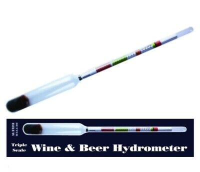 £6.99 • Buy Wine Beer Hydrometer Alcohol Content Home Brew Triple Scale Better Brew FREE DEL