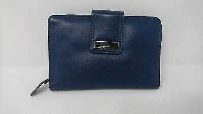 Jane Shilton Genuine Leather Dark Blue Purse • 11.69£