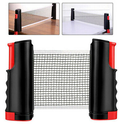 Portable Extendable Table Tennis Net Retractable Indoor Outdoor Table Tennis Use • 8.04£