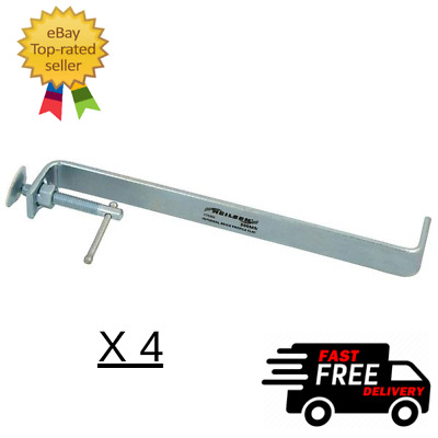 £18.99 • Buy Pro Internal Brick Profile Clamp 300mm Solid Steel Zinc Plated Pack Of 4