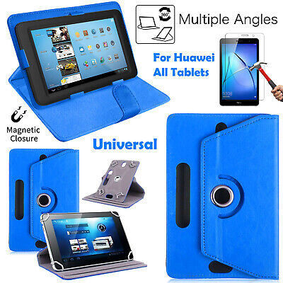 360° Rotate Case Stand Flip Universal Shell Pouch For Huawei MediaPad All Tablet • 3.99£
