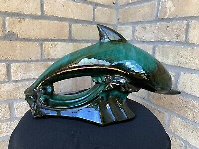 $ CDN40 • Buy Vintage Large Dolphin Blue Mountain Pottery-bmp-green-original-ocean Decor