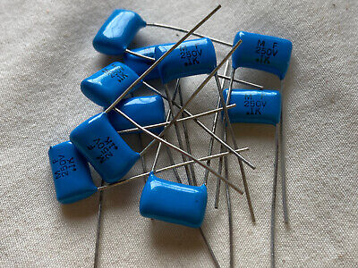 $6 • Buy NOS  0.1uf 250V Metal Film Capacitor - 10 Per Lot