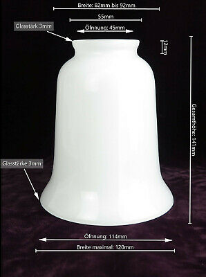 Lampshade Antique-Style White Glass Shade Retro-Lampe Bedside Lamp Replacement • 20.88£