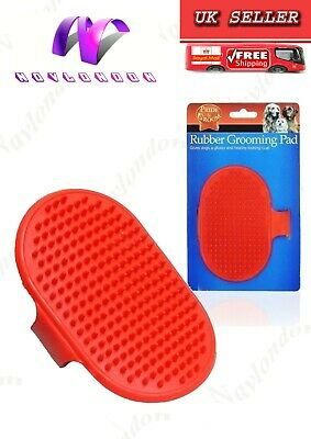 Red Rubber Grooming Pad Dog Puppy Cat Pet Pad Brush Comb For Long Short Hair Use • 2.79£