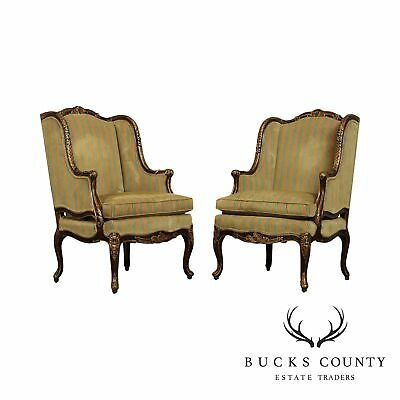 $3895 • Buy Randall Jy Singer For EJ Victor French Louis XV Style Pair Bergere Chairs