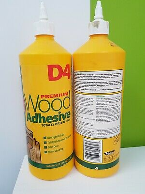 2 X Everbuild D4 Premium Wood Adhesive Waterproof For Internal/External Use • 29.99£