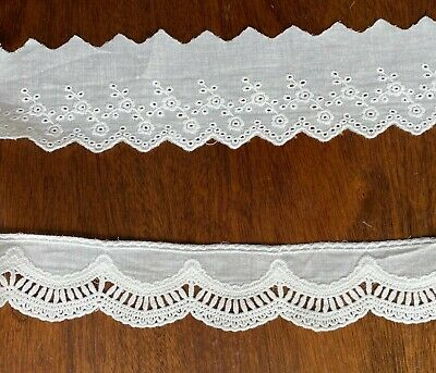 Cotton Embroidered Lace Fabric Trim 1 Yard 5.5/6 Cm Width • 3.49£