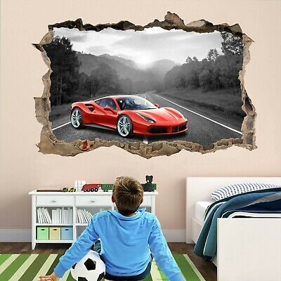 Super Sports Car Supercar Wall Stickers Mural Decal Poster Print Art DT28 • 22.99£