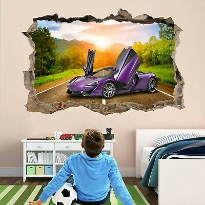 Super Sports Car Supercar Wall Stickers Mural Decal Poster Print Art DT30 • 14.99£