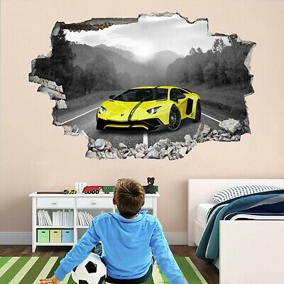 Super Sports Car Supercar Wall Stickers Mural Decal Poster Print Art DT33 • 22.99£