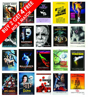 HORROR Movie Posters Film Prints ARGENTO, HAMMER, CUSHING, LEE, The Shining • 7.59£