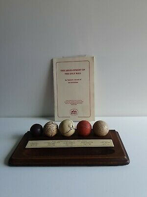 History Of The Golf Ball Display Desk Plaque  • 30£