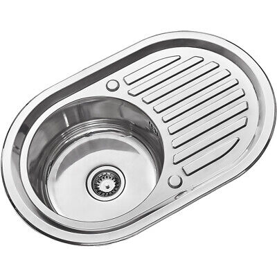 Stainless Steel Kitchen Sink Commercial Catering Single Double Bowl Drainer Kit • 41.99£